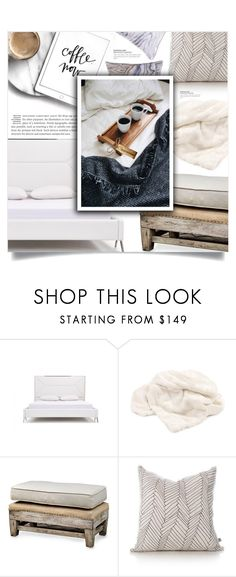 """""""Breakfast in bed"""" by dolly-valkyrie ❤ liked on Polyvore featuring interior, interiors, interior design, home, home decor, interior decorating, Dot & Bo, Uttermost and Quay"""