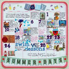 Summer Fun Calendar Pages - ValByDesign