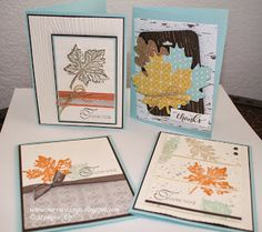 Truly Grateful - www.mayrastamps.blogspot.com DIY Thanksgiving projects and cards using the latest Stampin' Up! products including the Gently Falling Stamp Set.