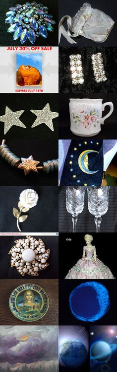 Starry Night...teamvintageusa by Sue on Etsy--Pinned with TreasuryPin.com