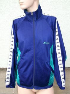 KAPPA Tracksuit Top Jacket Mens UK Large Rare Colours Vintage Retro Style Tracky