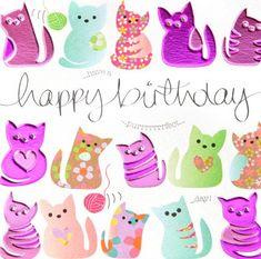 Happy Birthday Gorgeous, Happy Birthday To Us, Happy Birthday Messages, Happy Birthday Greetings, Happy Birthdays, Birthday Clown, Dinosaur Birthday, Birthday Cats, Birthday Girl Quotes