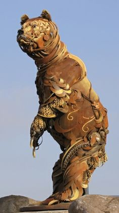 Iron Upcycled Scrap Metal Sculptures — John Lopez Studio