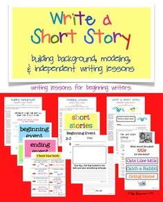 Learn to Write a Short Story lessons for beginning writers $