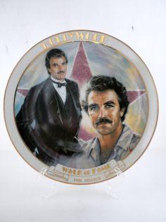 Vintage Hollywood  Walk of Fame Tom Selleck Plate by oldandnew8, $20.00