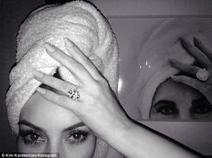 'My idol': Kim did her best Elizabeth Taylor impersonation when she shared this selfie in ...