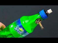 An unusual idea with a bottle and a can of spray paint - YouTube