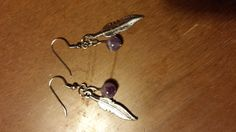 Hey, I found this really awesome Etsy listing at https://www.etsy.com/listing/196482081/gemstone-and-feather-earrings