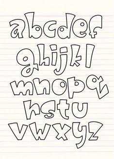 Handwriting Alphabet, Hand Lettering Alphabet, Calligraphy Letters, Doodle Alphabet, Alphabet Letters Design, Alphabet Fonts, Abc Alphabet, Graffiti Lettering Fonts, Doodle Lettering