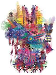 body language by aya kawabata imagines designers as colorful creatures