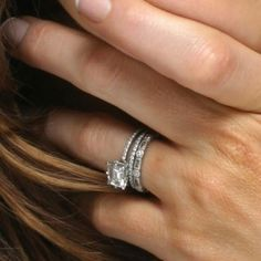 Love the layered ring look!  Super thin rings are a must for small hands and fingers.