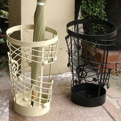 Music-themed umbrella stands -- clever.