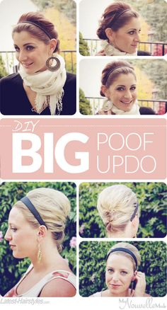 'The Big Poof' with Headband Tutorial for Long (and Short!) Hair | Latest-Hairstyles.com