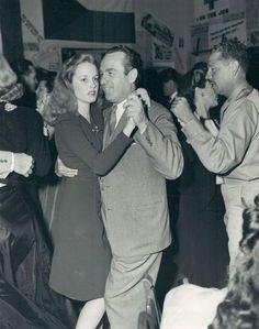 Harold Lloyd dances with his daughter Gloria - 1943