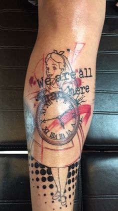 Trash Polka Tattoo Alice in wonderland