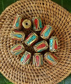 Tibetan Beads   Twelve by SmallWorldTreasures on Etsy, $18.00