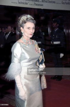 Princess Alice, Duchess of Gloucester, attends a film premiere at the Dominion Theatre in London on 20th October 1969.