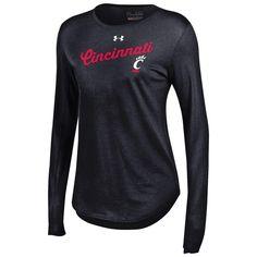 Women's Long Sleeve Cincinnati Bearcats Under Armour Baseball Tee