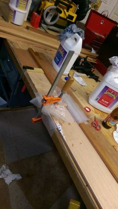 Epoxy scarf joints with gluing jig