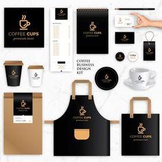 coffee branding Brand Identity Vector Templates for Coffee Brand Coffee Shop Branding, Coffee Shop Logo, Coffee Packaging, Coffee Cafe, Coffee Barista, Espresso Coffee, Starbucks Coffee, Cafe Shop Design, Cafe Interior Design