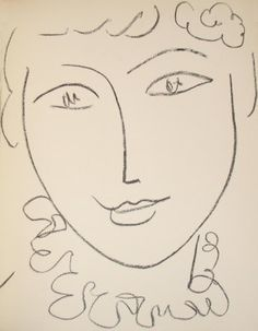 Matisse. #Matisse simple line drawing. So much expression in so few lines.