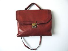 Vintage Leather Book Bag / Spiced Brown / Medium by UrbnCatfitters, $60.00 /// this is beautiful