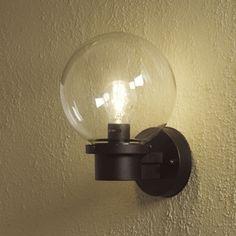 Basic Globe Wall Light - Sensor Option Also ( put at side of garage door) £30