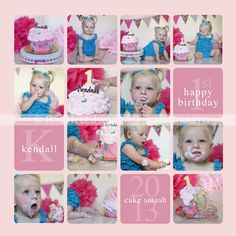 First Birthday Cake Smash | © Rachele Parmer Photography