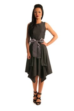 Jolaby - Ref 1024 - Racer Back Ruched Dress - DRESSES - CLOTHING