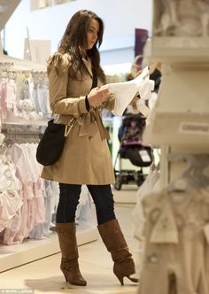 Kate shopping for baby clothes