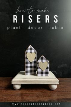 How to make Risers for plants, home decor and your table Decor Crafts, Wood Crafts, Fun Crafts, Diy Home Decor, Diy Wooden Projects, Wooden Diy, Rainbow Wood, Diy Wood Shelves, Wood Tray
