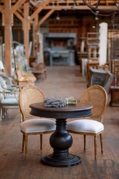 Antique Barn. Love the table AND the chairs
