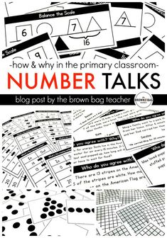 Number Talks: How and Why? Plus, 5 weeks of Number Talks for FREE. Perfect for guided math or math centers! (The Brown Bag Teacher)
