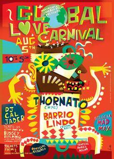 """查看此 @Behance 项目:""""Love Carnival Posters""""https://www.behance.net/gallery/34121955/Love-Carnival-Posters"""