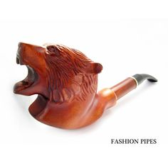 Carved Pipe Tobacco Pipe - Pipes, Long Smoking Pipe/Pipes GRIZZLY BEAR Wooden pipe-pipes of Pear Wood Handcrafted. Exclusive Pipe. $59.95, via Etsy.