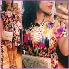 Perfect #ootd for spring and summer; or any day in Cartagena, Colombia! #Style #Jewelry #Lipstick & #Dress is all you need! #Fashion