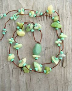 Boho Friendship Necklace Gemstone Necklace Bohemian by BohoStyleMe