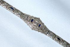 #252 14k White Gold .09ct Diamond Bracelet