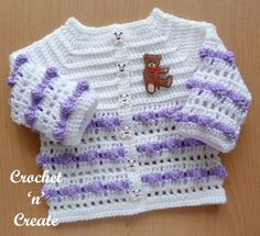 Popcorn Baby Coat Free Crochet Pattern Cute popcorn stitch baby coat, make for gifts or for your own baby. Crochet Baby Mittens, Crochet Baby Cardigan, Baby Blanket Crochet, Baby Knitting, Knitting Yarn, Easy Crochet, Crochet Gifts, Free Crochet, Baby Outfits