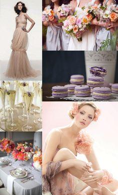 Peach & Lavender Spring Wedding Inspiration