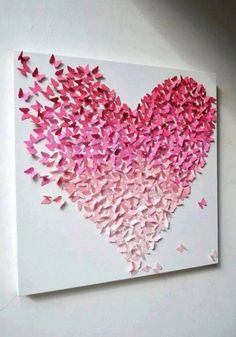 Here you are currently watching the amazing result of your Amazing DIY Art & Wall Decor Ideas. I love this Amazing DIY Art & DIY Wall Decor Ideas. Paint Sample Cards, Paint Samples, Paint Chip Cards, Sample Paper, Art Mural Papillon, Fun Crafts, Diy And Crafts, Simple Crafts, Butterfly Wall Decor