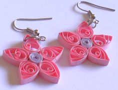 Pink Paper earrings by Craftcove on deviantART