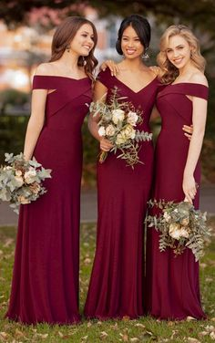 Mermaid Bridesmaid Dresses Long Dress for Wedding Party 2019 V-Neck Robe Demoiselle D'honneur Wedding Guest Dress. Sorella Vita Bridesmaid Dresses, Winter Bridesmaid Dresses, Winter Bridesmaids, Beautiful Bridesmaid Dresses, Wedding Bridesmaids, Wedding Attire, Wedding Gowns, Beautiful Dresses, Burgundy Brides Maid Dresses