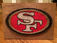 Custom string art by Magnolia Design - San Francisco logo… Diy Arts And Crafts, Hobbies And Crafts, Diy Craft Projects, Diy Crafts, Cheap Hobbies, Magnolia Design, Nail String Art, String Art Patterns, Prego