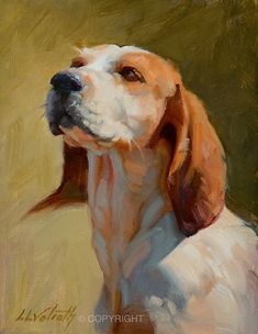 Glamour Hound by Linda Volrath Oil ~ 8 x 6