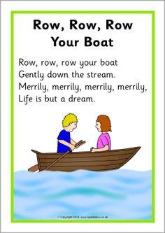 Row, Row, Row Your Boat song sheet (SB10945) - SparkleBox