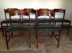 Set 6 sedie vintage danesi in teak