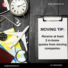 Receive at least 3 in-home quotes from moving companies. Moving Companies, Freight Forwarder, Relocation Services, Tip Of The Day, Moving Tips, At Least, Quotes, Quotations, House Moving Companies