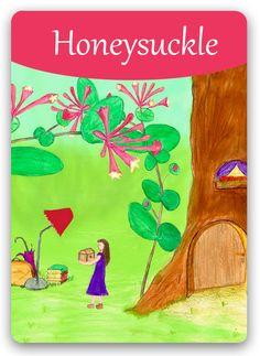 Bach Flower Cards [Honeysuckle] - Honeysuckle is the Bach Flower Remedy that… Bach Flowers, Online Cards, Healing Codes, The Ancient One, Garden Planner, Flowers Online, Oracle Cards, Flower Cards, Illustrations