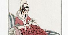 Parijse mode-illustraties van 100 jaar geleden